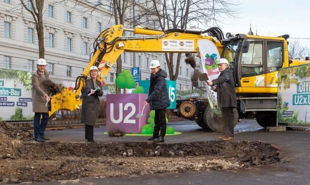 Bécsben megkezdődött az U2/U5-ös metró építése
