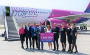 Wizz Air celebrates 1.5 millionth passenger at Debrecen airport