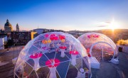 Hotel President opens rooftop bar with bubble-shaped units