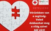 Véradó kampányt indít a HotelHero és az MSZÉSZ