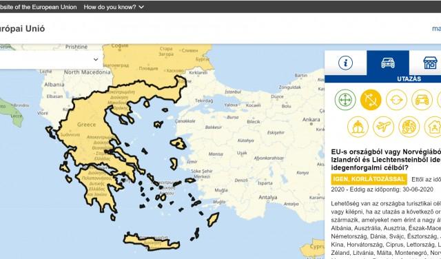 Folyamatosan frissülő weboldal az uniós határnyitásokról