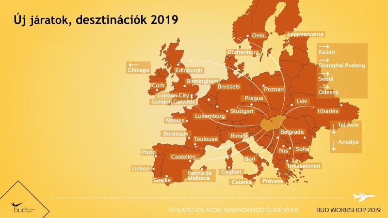 Budapest az Európán belüli járatbővítések egyik éllovasa