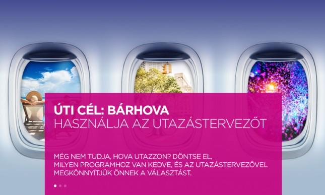 Utazástervezőt is kínál a Wizz Air