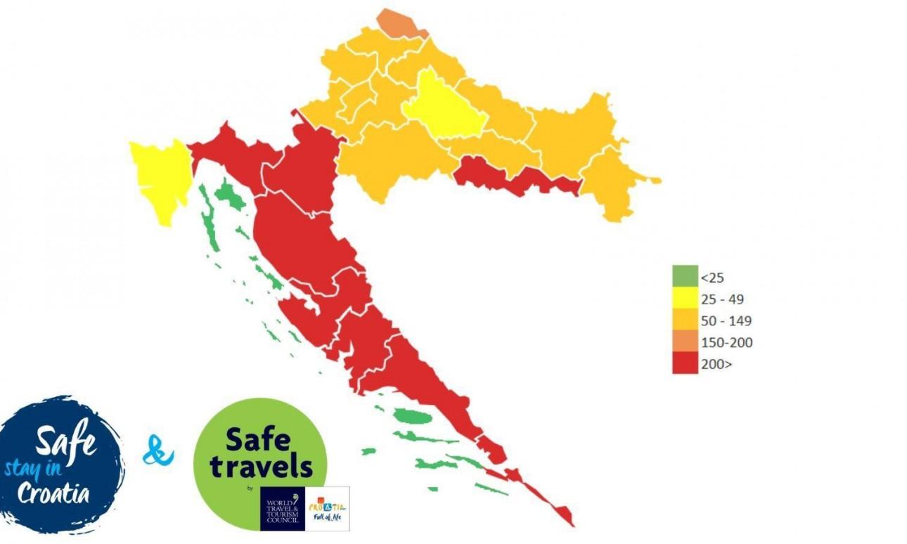 Térképen a Covid-mentes horvát szigetek