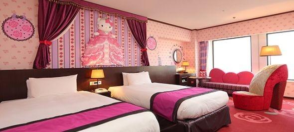 Hello Kitty szállodák Tokióban, étterem Pekingben