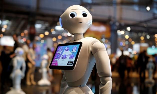 Humanoid robot a müncheni repülőtéren