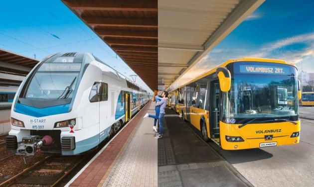 Utasbarát fejlesztések és új menetrend a MÁV-nál és a Volánbusznál