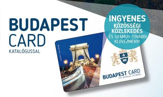 Itt a 120 órás és a junior Budapest Card