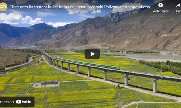 3000 méter magasan száguld Tibet első nagy sebességű vasútvonala