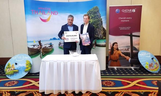 Együttműködik a Thai Turisztikai Hivatal és a Qatar Airways