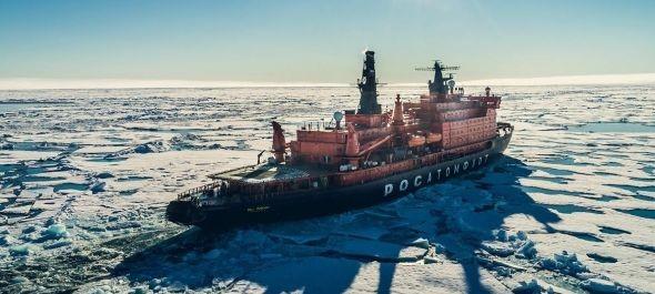 Atomjégtörővel az Északi-sarkra