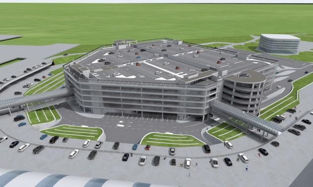 Hatszintes parkolóház épül a Liszt Ferenc Repülőtéren