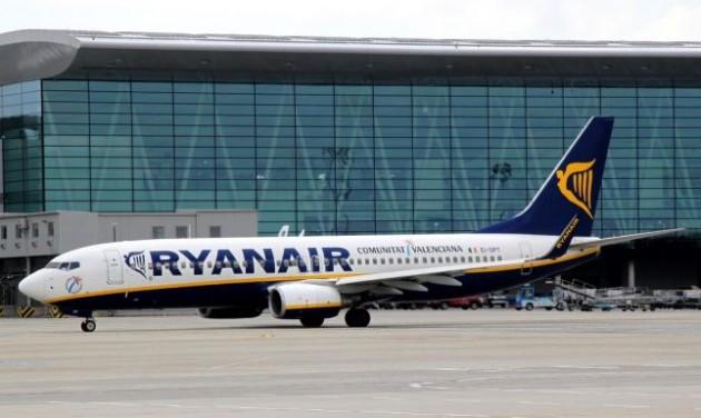 Megint túlsúlyos volt a Ryanair gépe