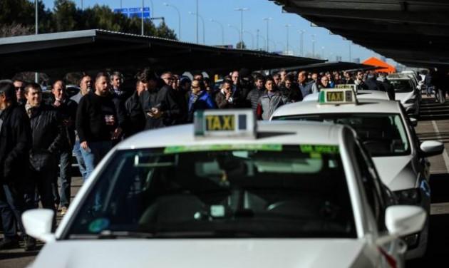 Eredménytelen a madridi taxisok sztrájkja az Uber ellen