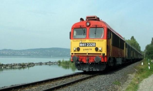 Ősszel leállnak a vonatok a Balaton déli részén