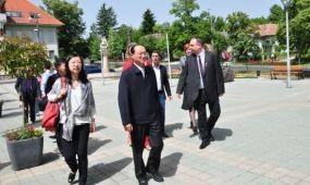 Kínai delegáció Hévízen