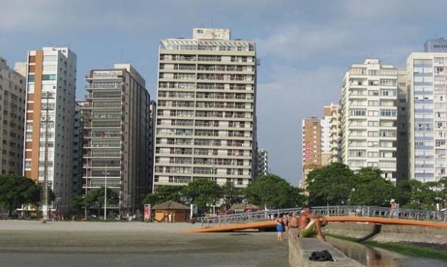 Santos, a ferde toronyházak városa