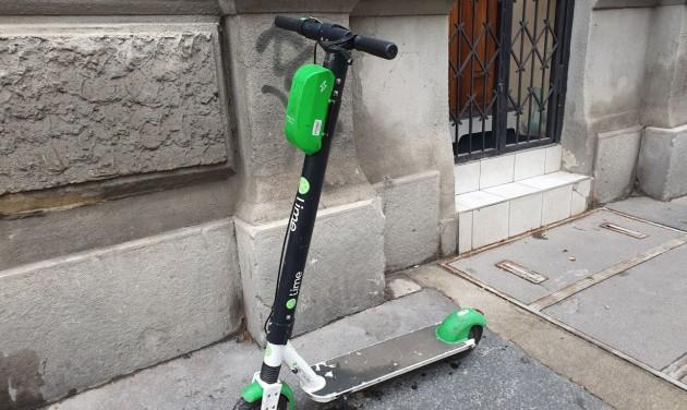Erzsébetváros talált tárgyként kezeli az elektromos rollereket