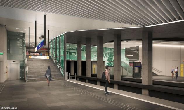 Látványterven a 3-as metró déli szakaszának állomásai