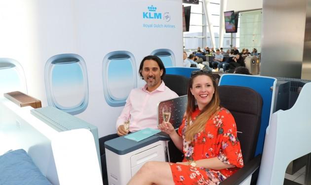 Bemutatkoztak a KLM új business ülései
