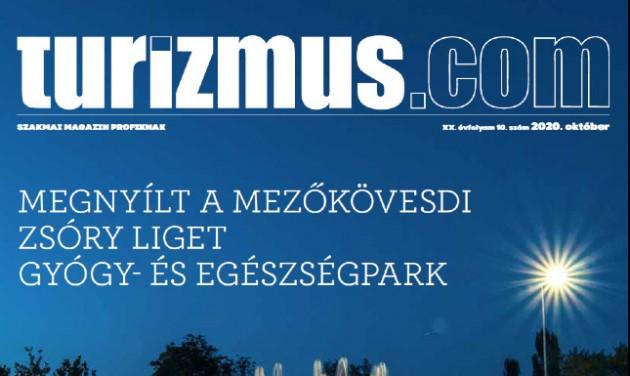 Megjelent a Turizmus.com magazin októberi száma
