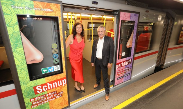 Illatosított metrókocsik Bécsben