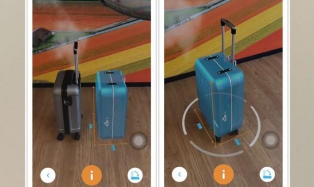 Virtuális kézipoggyász-ellenőrző a KLM-nél