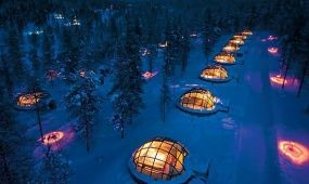 Eszkimó iglufalu a leghíresebb finn attrakció
