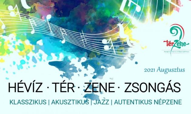 Tér-Zene-Zsongás Hévízen