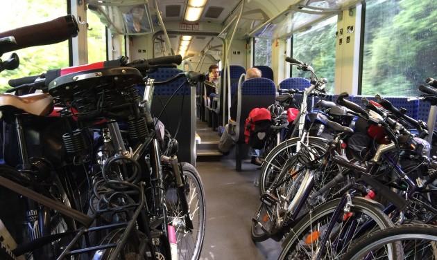 Egyre több a kerékpáros utas a hazai vonatokon