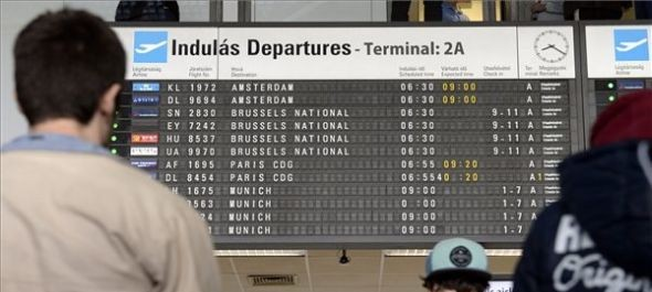 Informatikai hiba miatt késések a Liszt Ferenc-repülőtéren