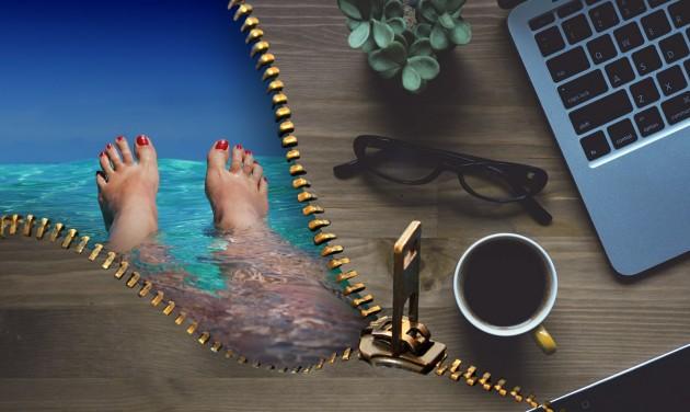 Munkavégzés a nyaralás alatt