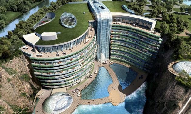 Föld alatti InterContinental épült Kínában