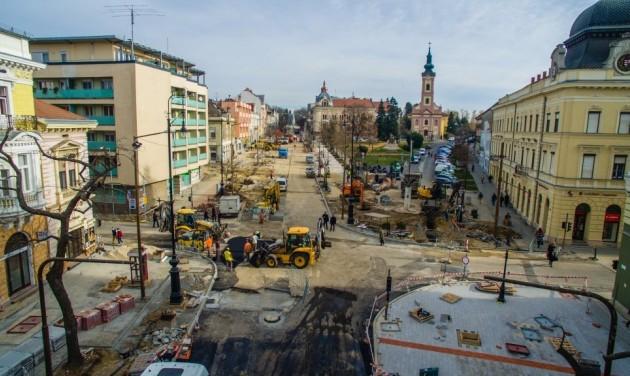 Régi-új sétálóutca Nagykanizsán