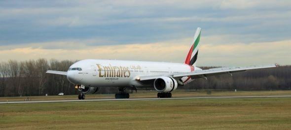 Budapestre érkezett az első Emirates Boeing777-es