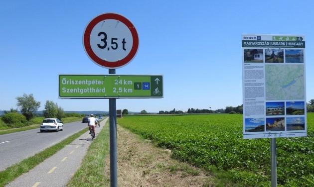 Átadták az EuroVelo 14 hazai szakaszát és 6 őrségi útvonalat