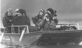 Természetfotósokat csábított el a Tisza-tó