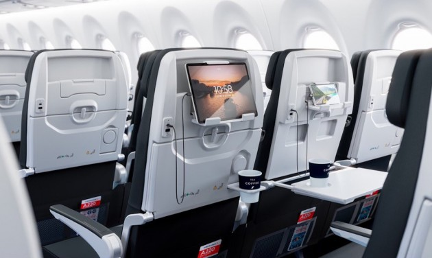 Megérkezett Párizsba az Air France első Airbus A220-asa