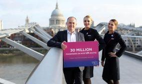 30 millió utas a Wizz Air egyesült királyságbeli járatain