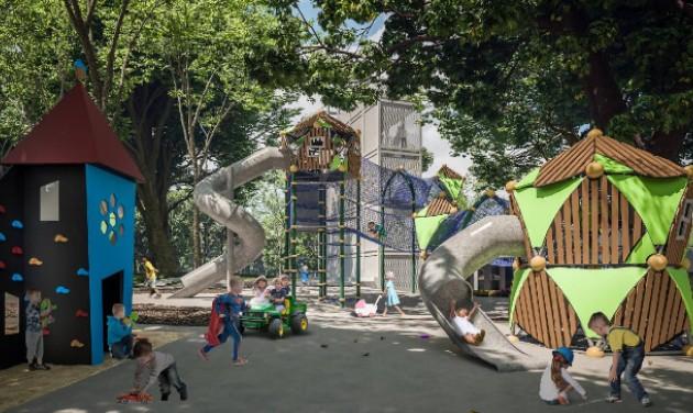 Tematikus parkká alakul Debrecenben a nagyerdei Pagony játszótér