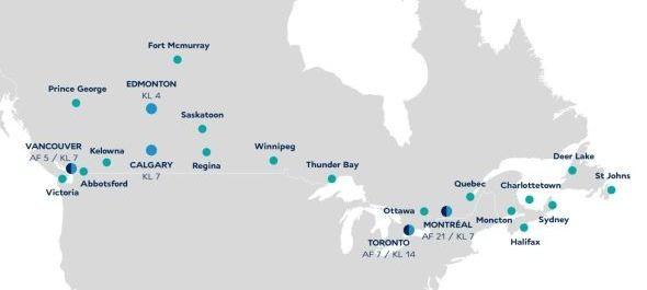 Air France-KLM: Európából elsőként a kanadai Edmontonba