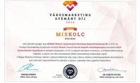 Városmarketing Gyémánt díjat nyert Miskolc