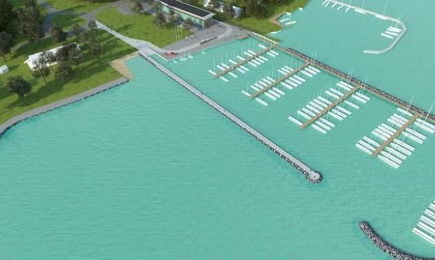 Új vitorláskikötő épül Balatonfüreden