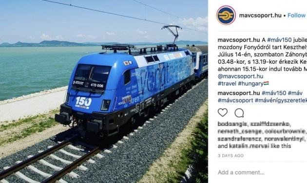 Elindult a MÁV-csoport Instagram-oldala