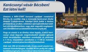 Dupla railjetek és Advent EuroCity vonatok Bécsbe