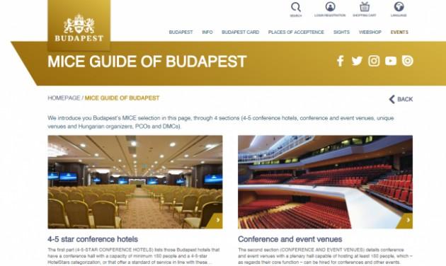 Debütál az online Budapest MICE Guide 2017-2018