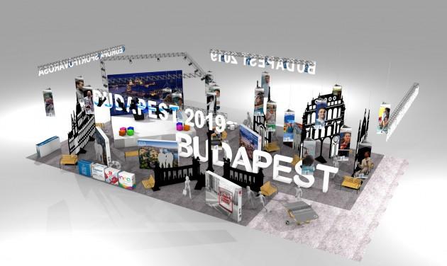 Élsportolók és művészek az Utazás kiállítás Budapest standján