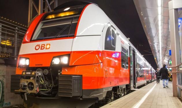 A vasúti személyszállítást fejlesztik Bécsben