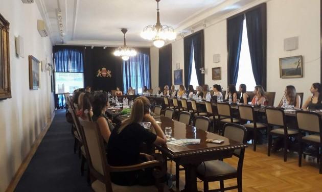 Bajor és holland hallgatók budapesti tanulmányúton