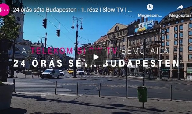 Slow TV: 24 órás virtuális séta indult Budapesten